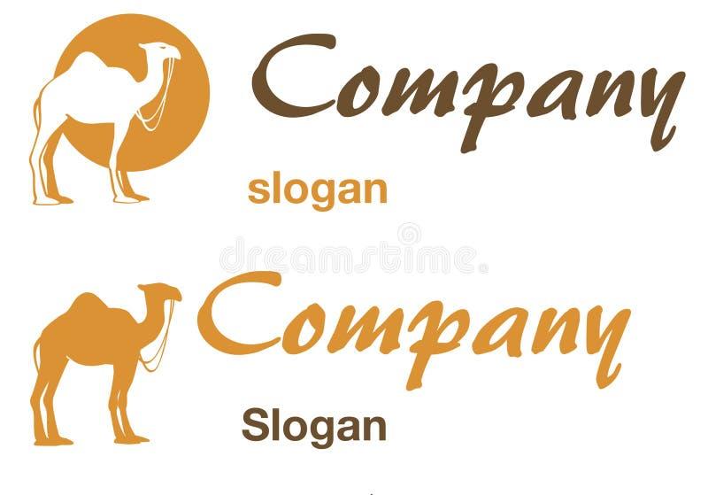 Insignia del camello stock de ilustración