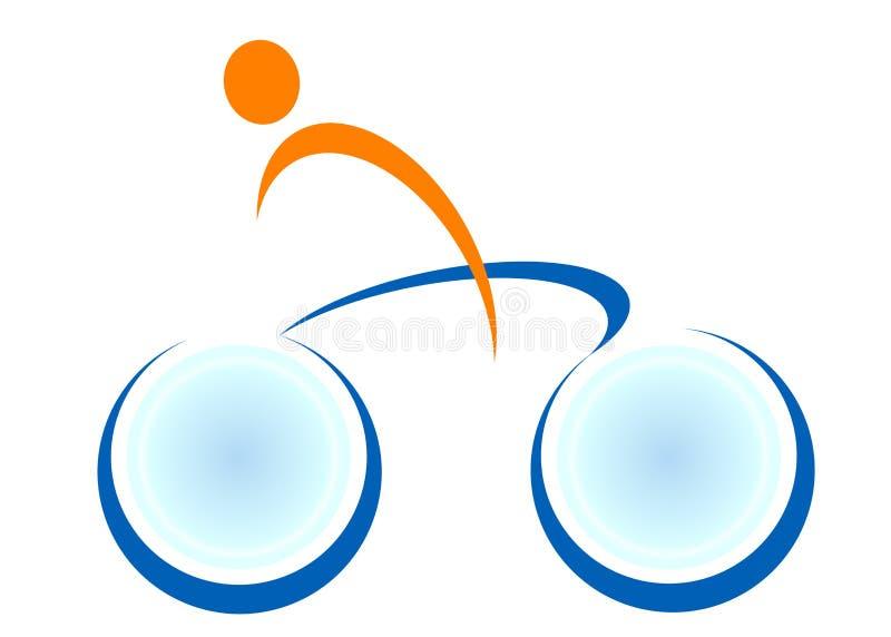 Insignia del ciclo ilustración del vector