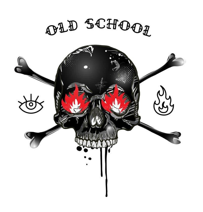 Insignia del cráneo libre illustration