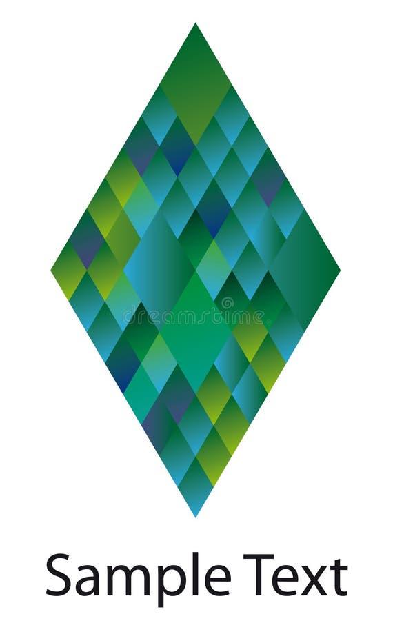 Insignia del diamante ilustración del vector