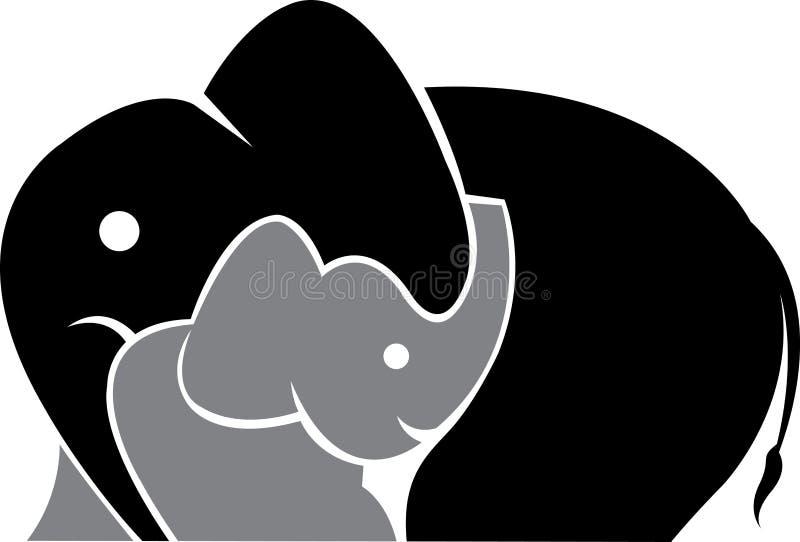 Insignia del elefante stock de ilustración