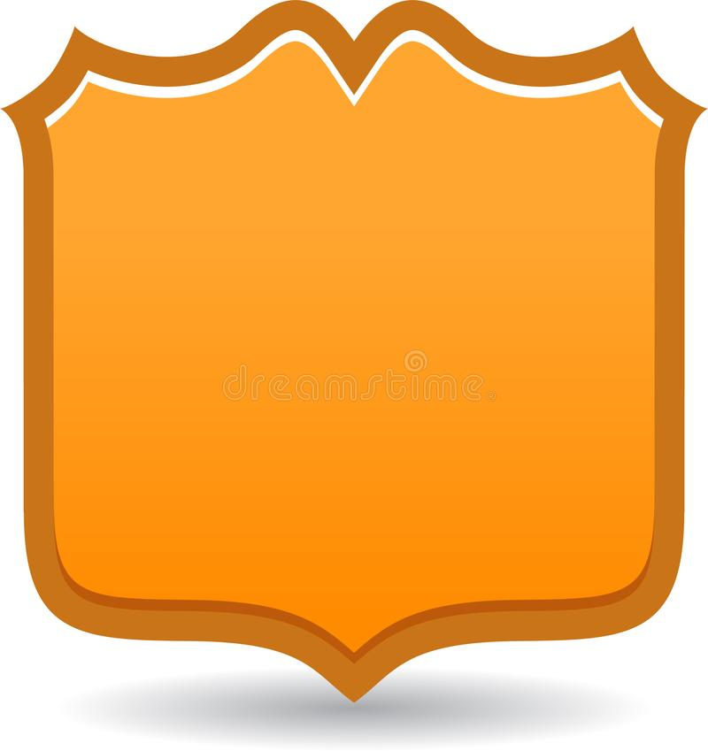 Insignia del escudo de oro ilustración del vector