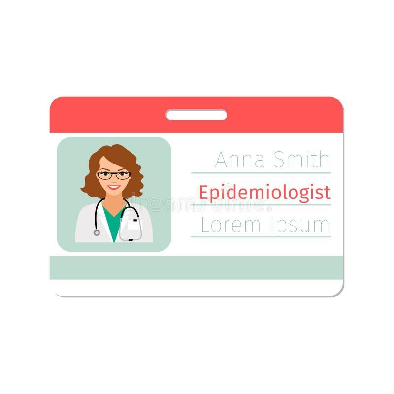 Insignia Del Especialista Médico Del Epidemiólogo Ilustración del ...