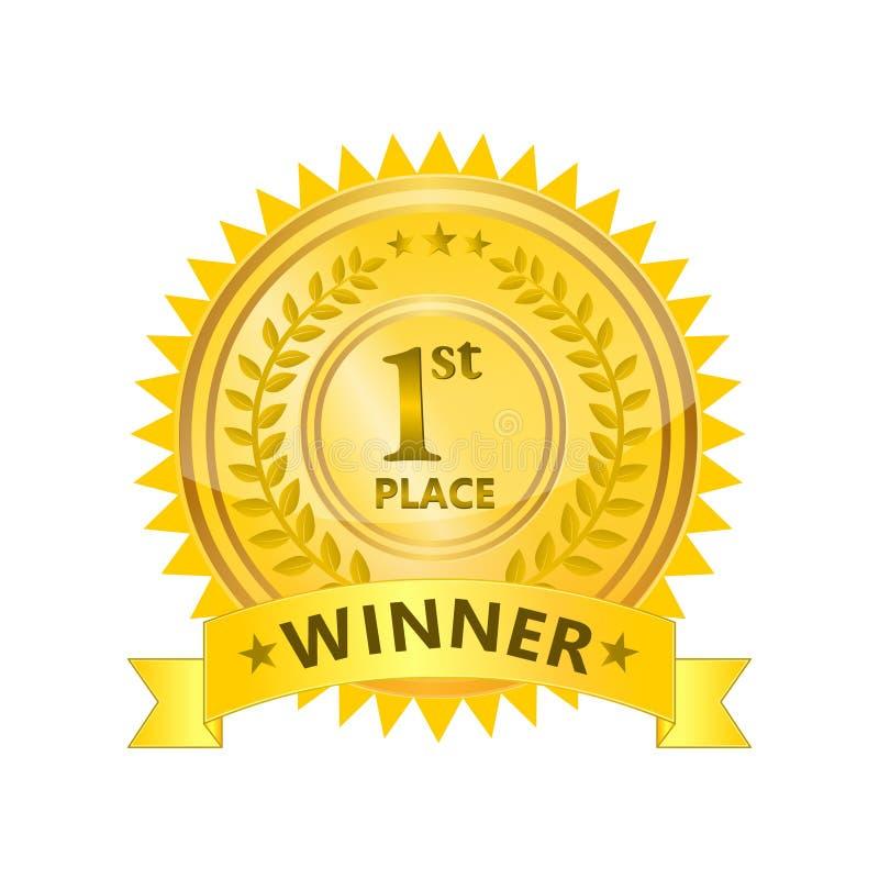 Insignia del ganador ilustración del vector