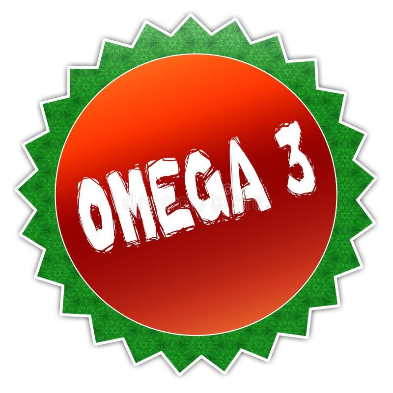 Insignia del girasol con el texto de OMEGA 3 stock de ilustración