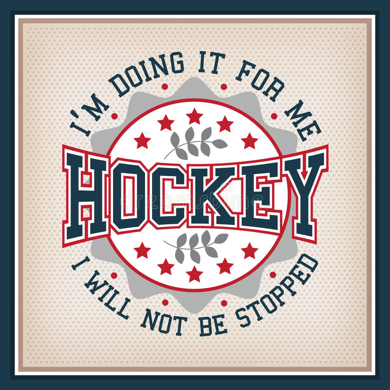 Insignia del hockey sobre hielo ilustración del vector