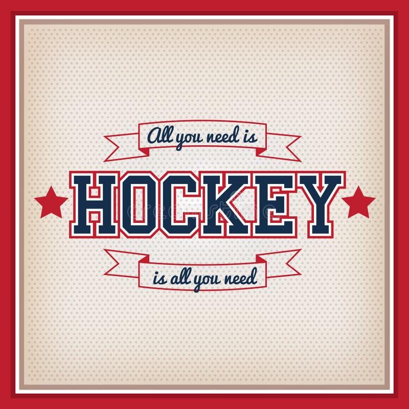 Insignia del hockey sobre hielo libre illustration
