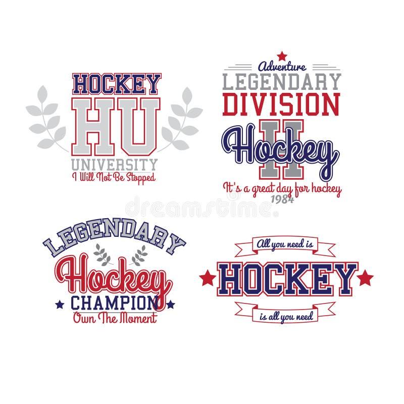 Insignia del hockey sobre hielo stock de ilustración