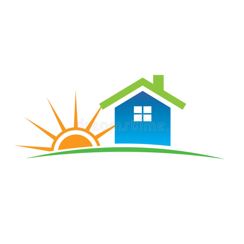 Insignia del hogar y de la sol libre illustration