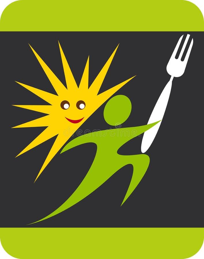Insignia del hombre del cocinero del cocinero del verano ilustración del vector