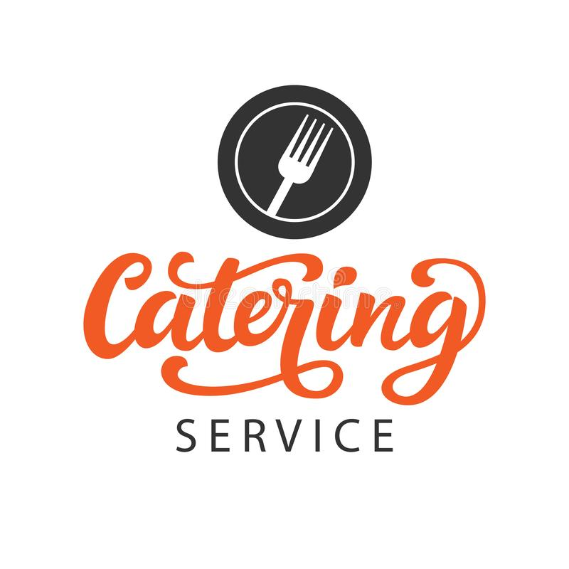 Insignia del logotipo del vector del abastecimiento con caligrafía moderna escrita mano ilustración del vector