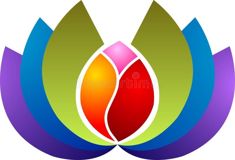 Insignia del loto stock de ilustración