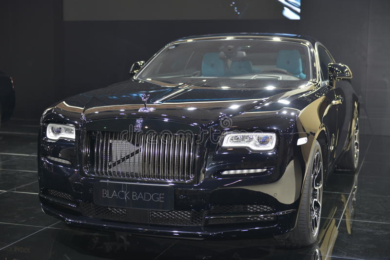 Insignia del negro del espectro de Rolls Royce imagen de archivo