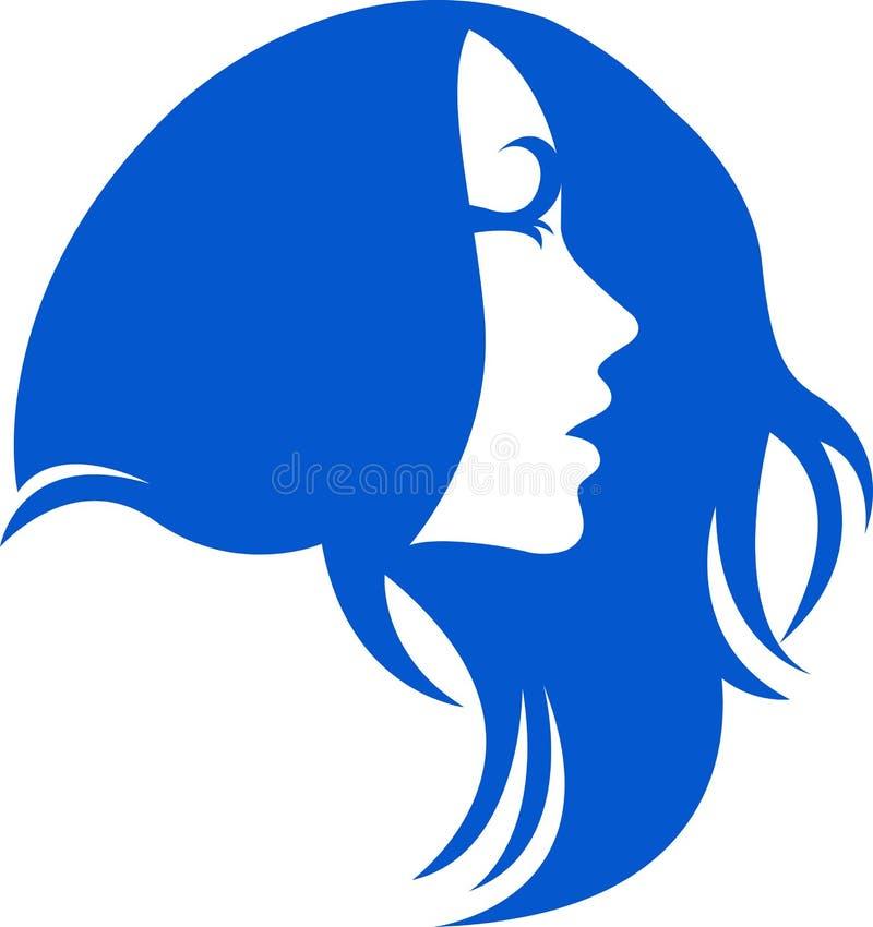 Insignia del pelo de la mujer ilustración del vector