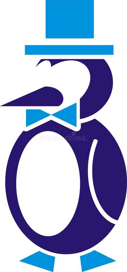 Insignia del pingüino stock de ilustración