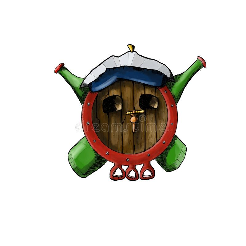 Insignia del pirata de la cerveza stock de ilustración