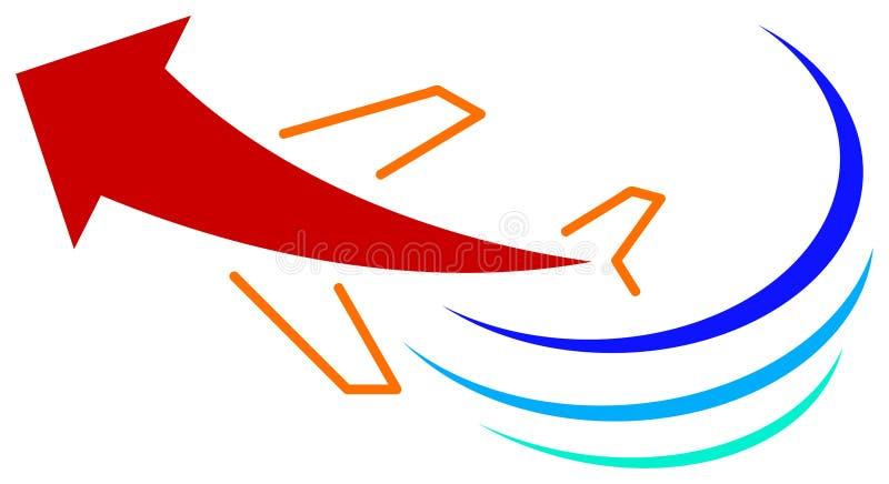 Insignia del recorrido stock de ilustración