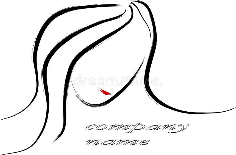 Insignia del retrato de la mujer libre illustration