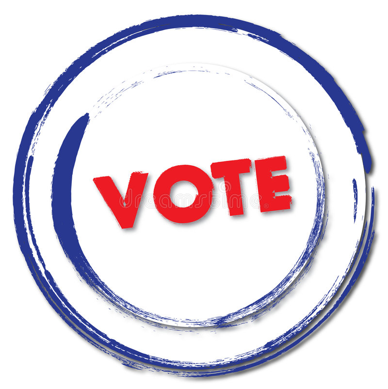 Insignia del sello del voto stock de ilustración