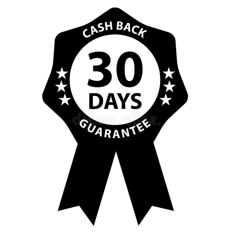 Insignia del sello garantía de la devolución de efectivo de 30 días libre illustration