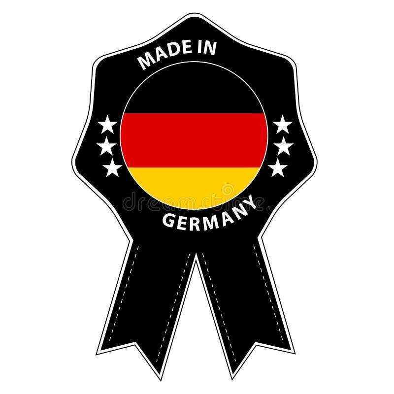 Insignia del sello hecha en Alemania - ejemplo del vector - aislada en blanco stock de ilustración