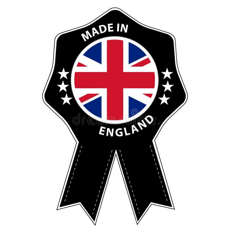 Insignia del sello hecha en Inglaterra ilustración del vector