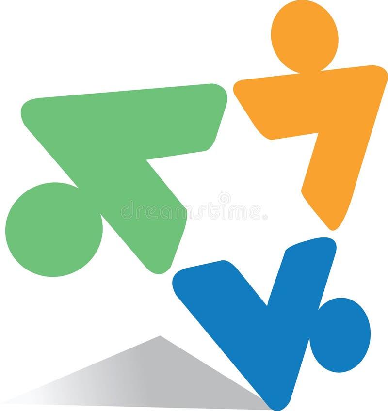 Insignia del triángulo stock de ilustración