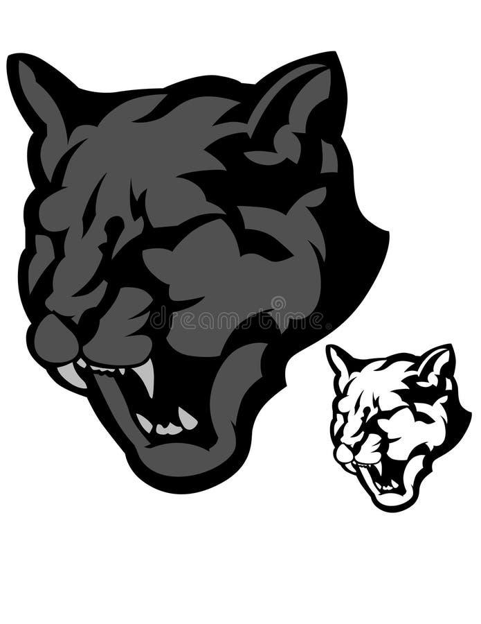 Insignia del vector de la mascota de la pantera ilustración del vector