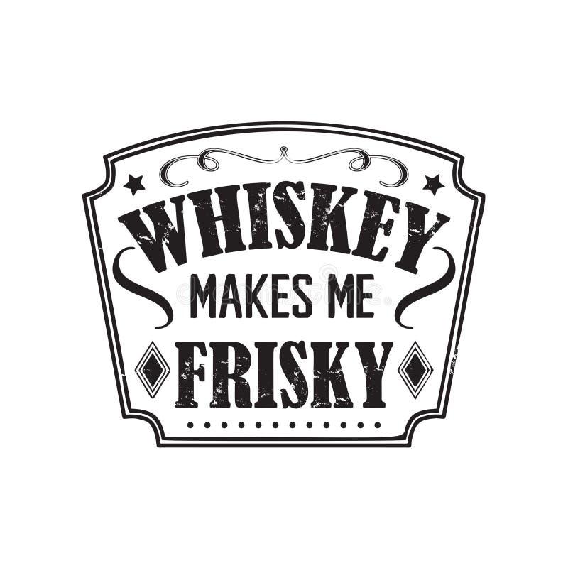 Insignia del vector del whisky stock de ilustración
