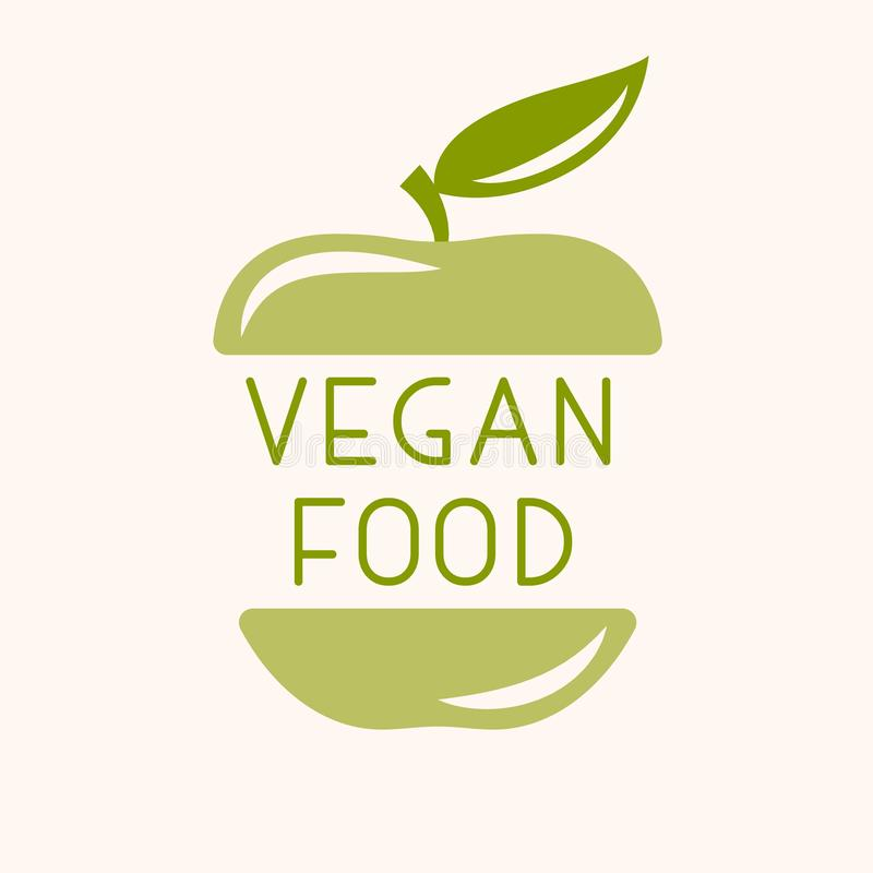 Insignia del vegano o del vegetariano libre illustration