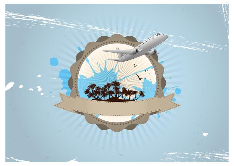Insignia del viaje stock de ilustración