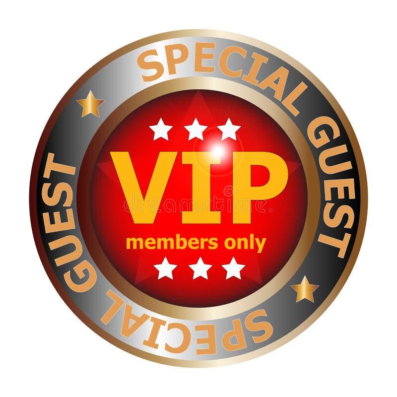 Insignia del VIP de la huésped especial ilustración del vector