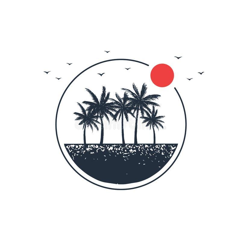 Insignia dibujada mano del viaje con el ejemplo texturizado del vector libre illustration