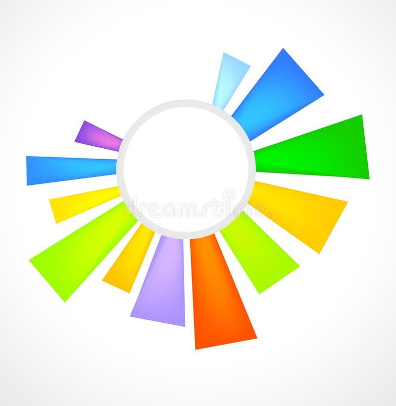 Insignia, el sol ilustración del vector