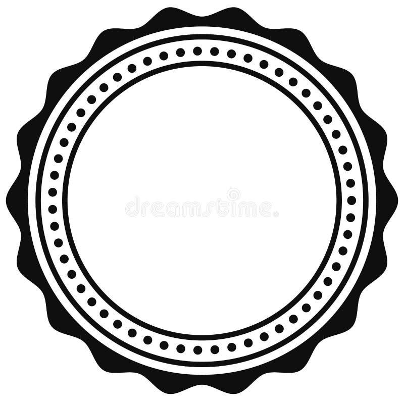 Insignia, elemento del sello Contorno del certificado circular, medalla stock de ilustración