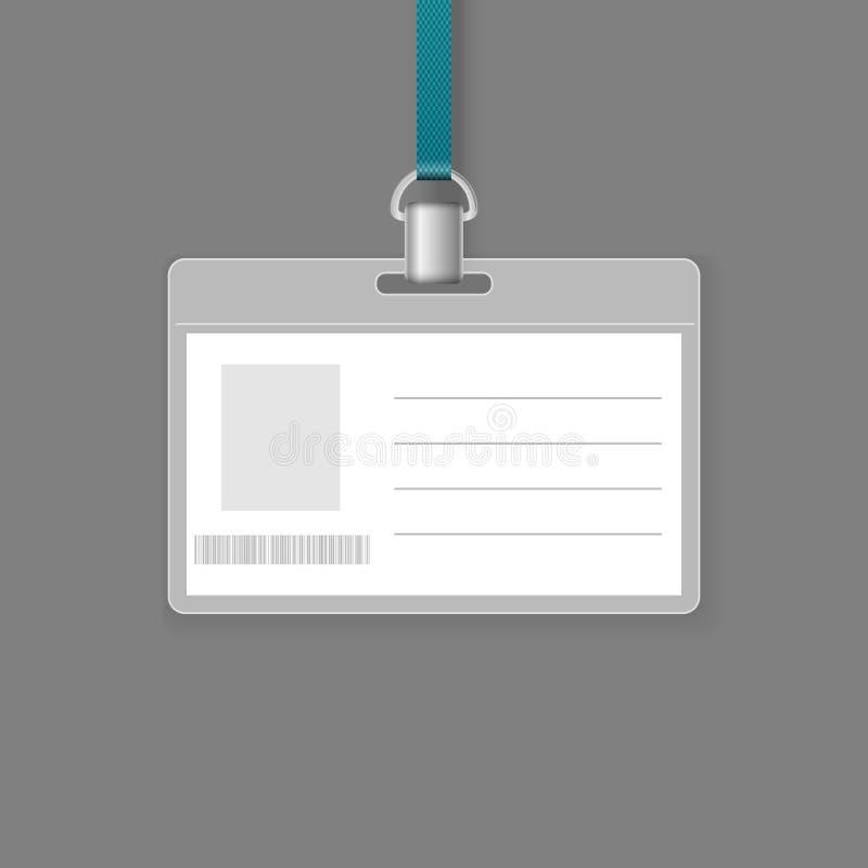 Insignia en blanco de la identificación stock de ilustración
