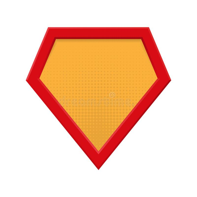 Insignia en blanco del super héroe Plantilla del logotipo del super héroe Aislado en el fondo blanco Ilustración del vector libre illustration