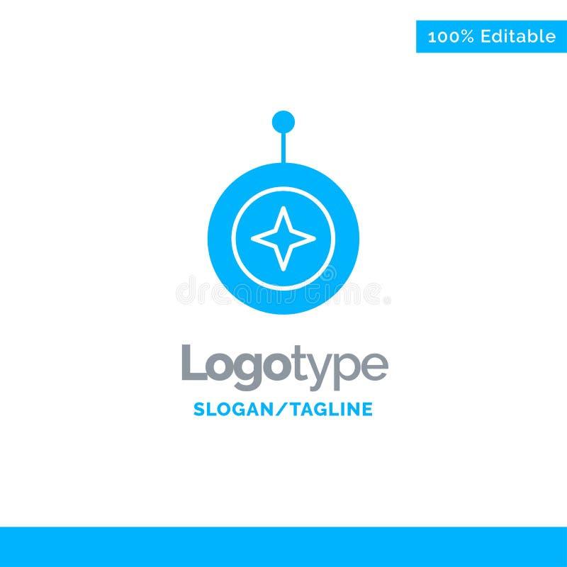 Insignia, estrella, medalla, escudo, honor Logo Template sólido azul Lugar para el Tagline stock de ilustración