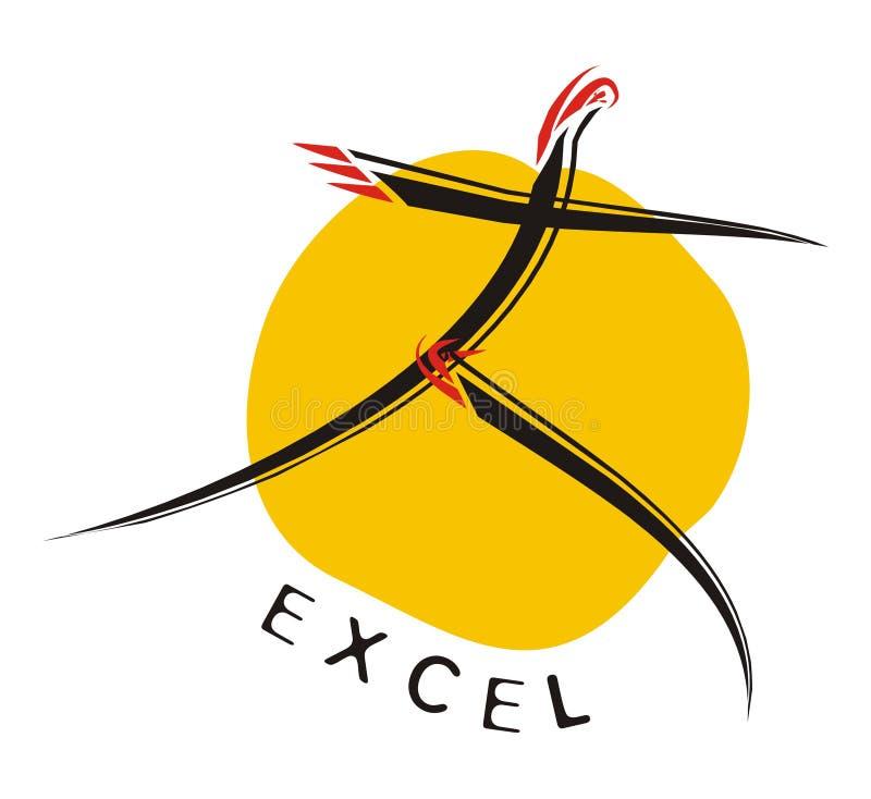 Insignia-Excelencia de motivación ilustración del vector