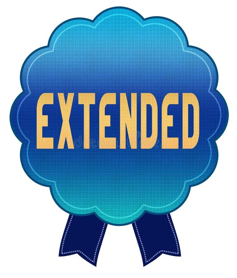 Insignia EXTENDIDA azul de la cinta libre illustration