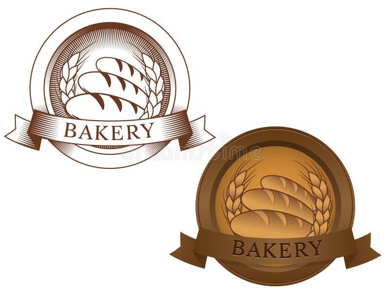 Insignia ficticia de la panadería ilustración del vector