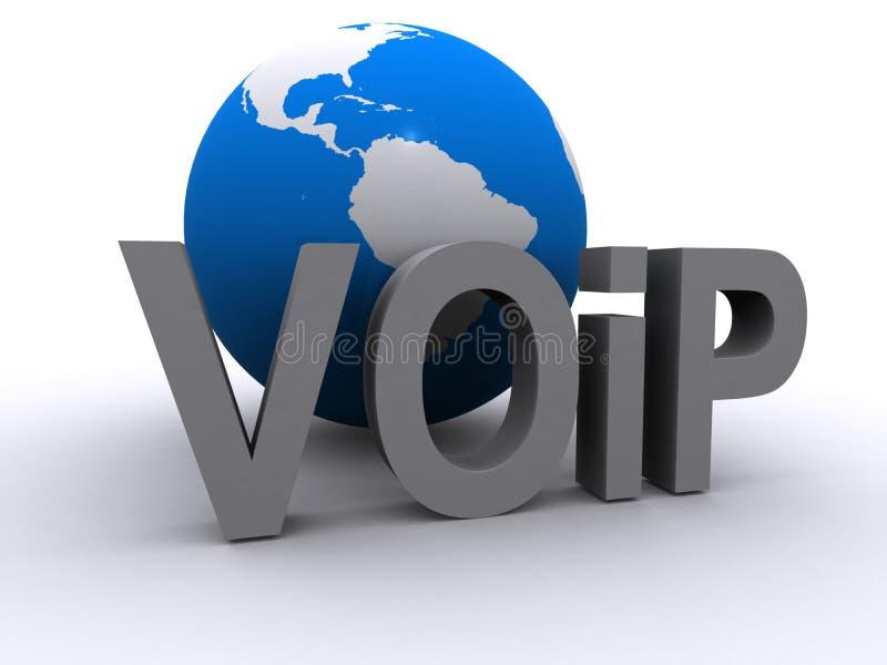 Insignia global de VOIP ilustración del vector