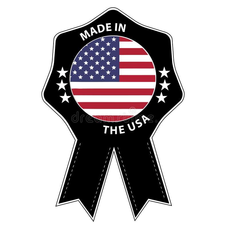 Insignia hecha en los E.E.U.U. - ejemplo del sello del vector - aislados en blanco stock de ilustración