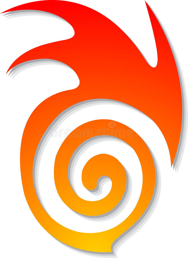 Insignia ideal de la llama ilustración del vector