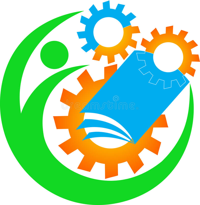 Insignia industrial de la educación ilustración del vector