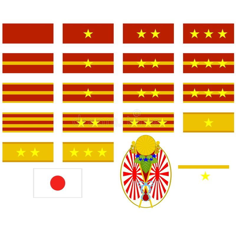 Download Insignia Of The Japanese Army Stock Vector - Illustration of icon, epaulettes: 41946053