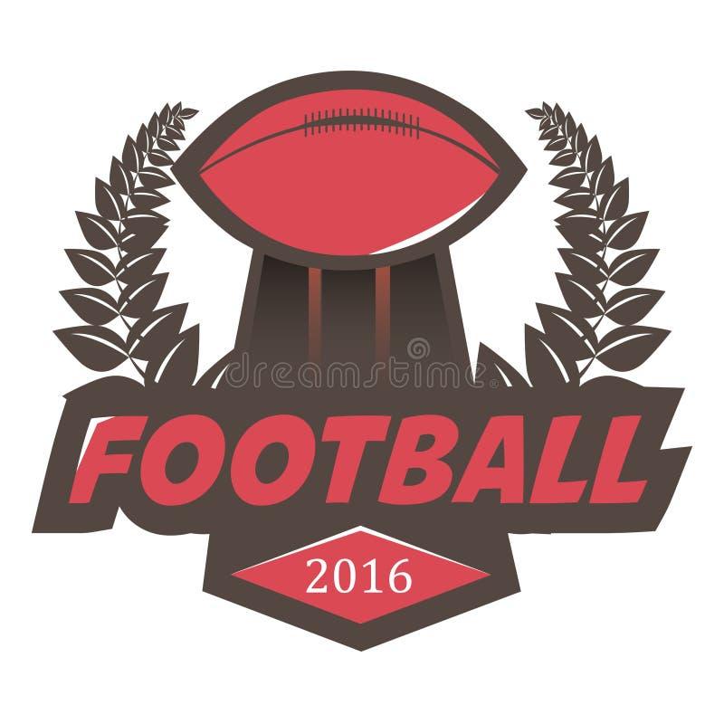 Insignia Logo Design Template del fútbol del fútbol libre illustration