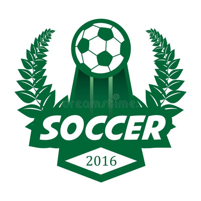 Insignia Logo Design Template del fútbol del fútbol stock de ilustración