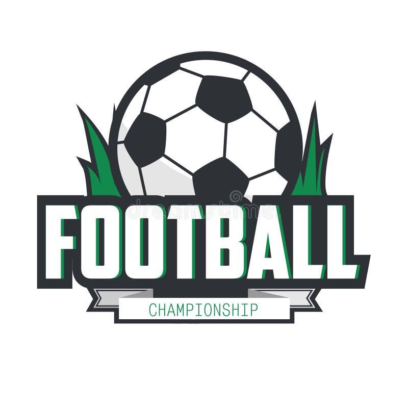 Insignia Logo Design Template del fútbol del fútbol ilustración del vector