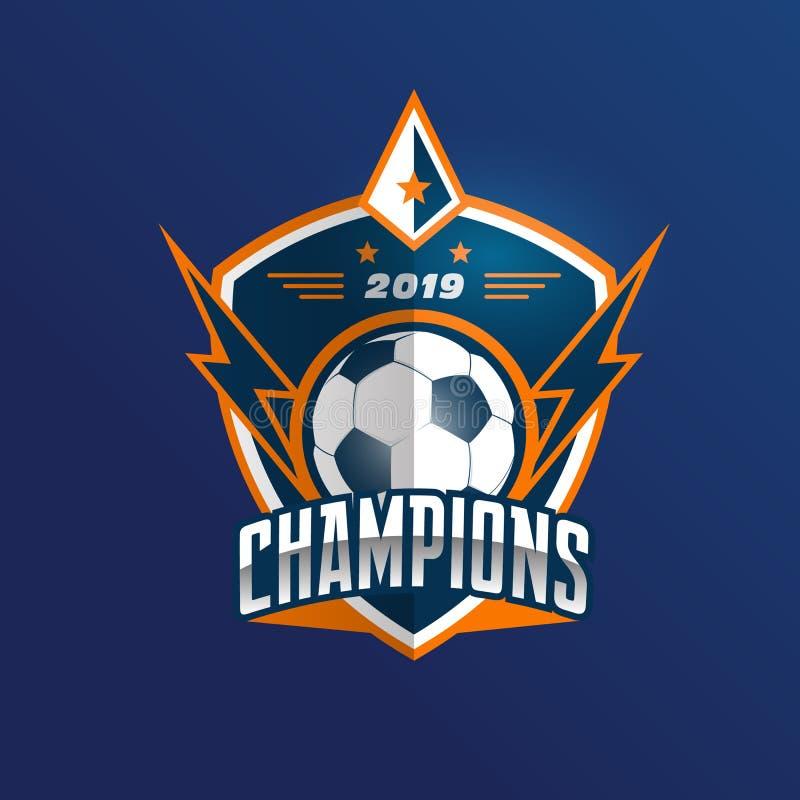 Insignia Logo Design Templates del fútbol del fútbol | Deporte Team Identity Vector Illustrations aislado en el fondo blanco ilustración del vector